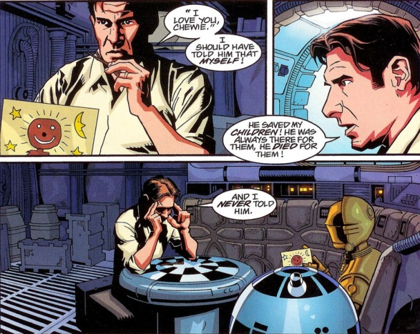 Han Solo recordando a Chewbacca