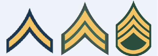 Insignias de Soldado, Cabo y Sargento