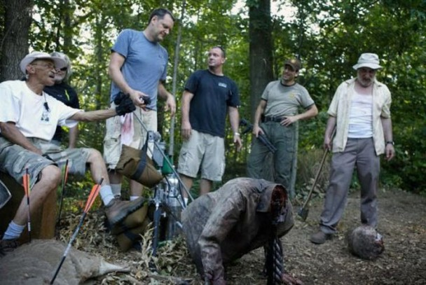 behind the scenes of the walking dead 27