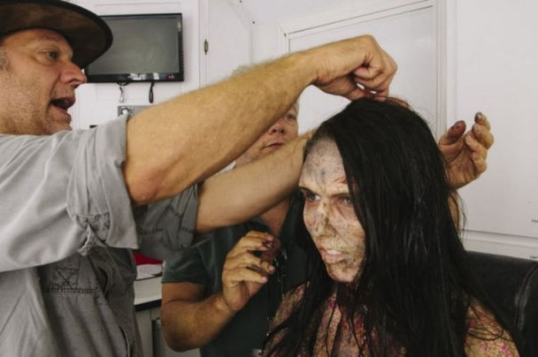 behind the scenes of the walking dead 45