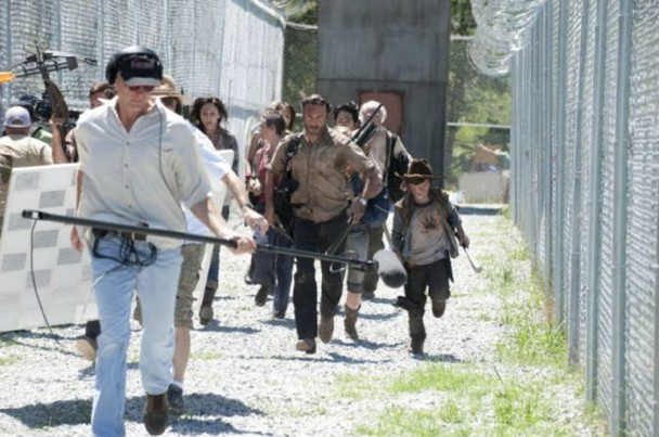 behind the scenes of the walking dead 7