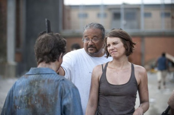 behind the scenes of the walking dead 8