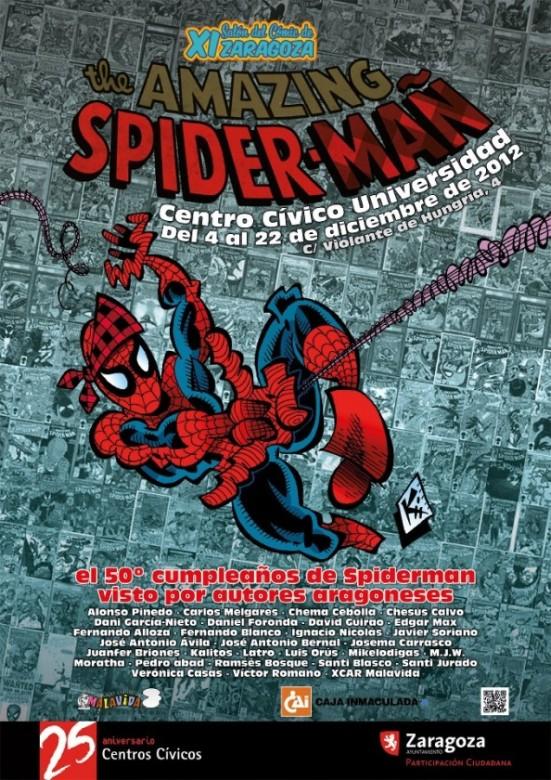 Cartel Exposicion Spider-mañ