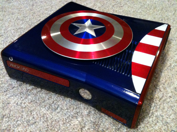 modding xbox360 capitan america