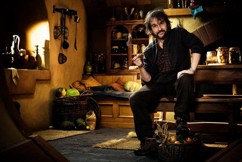 Peter Jackson en el salón de Bilbo