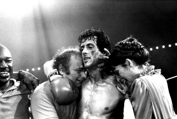 Rocky, Paulie, Adrian, Duke