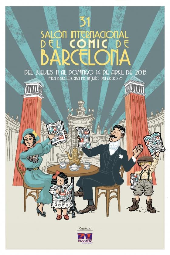 El cartel del 31 Salón del Cómic de Barcelona por Alfonso Zapico
