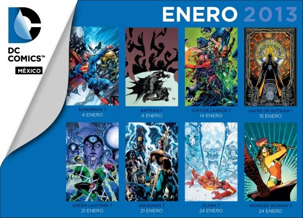 Novedades de DC Comics México para Enero de 2013