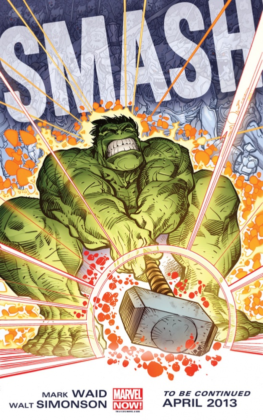 Hulk con el Mjolnir