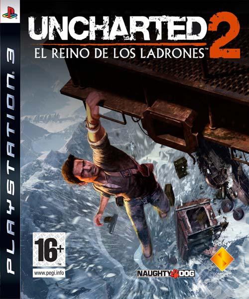 """Carátula de """"Uncharted 2: El Reino de los Ladrones"""""""