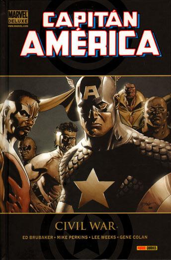 Portada de Marvel Deluxe: Civil War - Capitán América