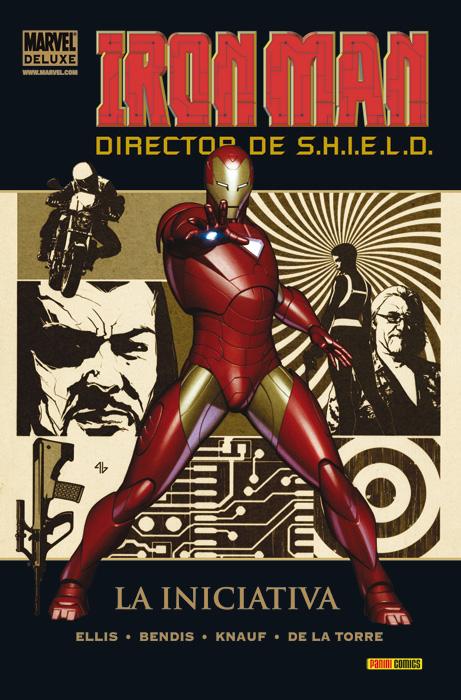 Portada de Marvel Deluxe: Iron Man: Director de S.H.I.E.L.D. 1 - La Iniciativa