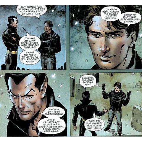 Momentazo entre Bucky y Namor