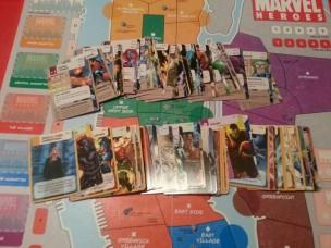 Marvel Heroes cartas y mapa