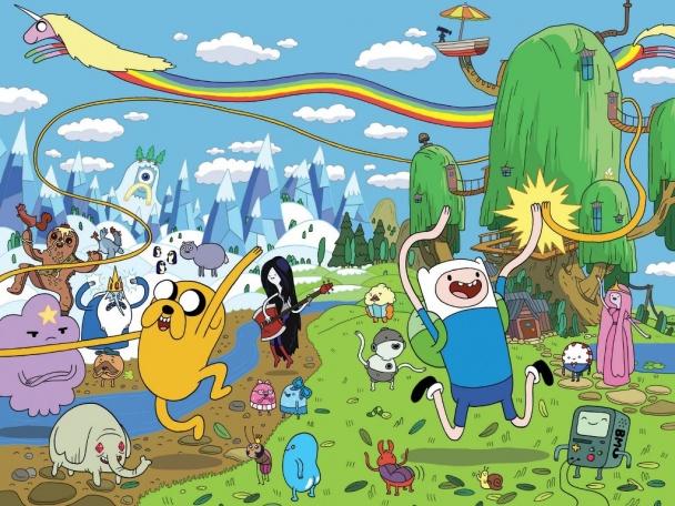 hora de aventuras finn jake y todos los personajes