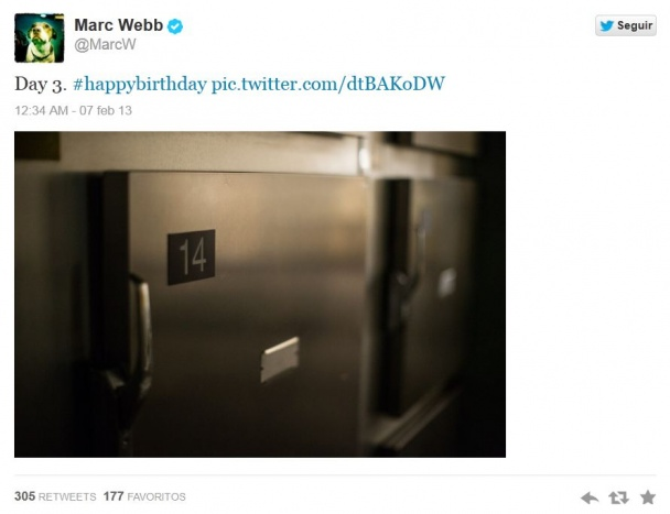 El tweet de Marc Webb