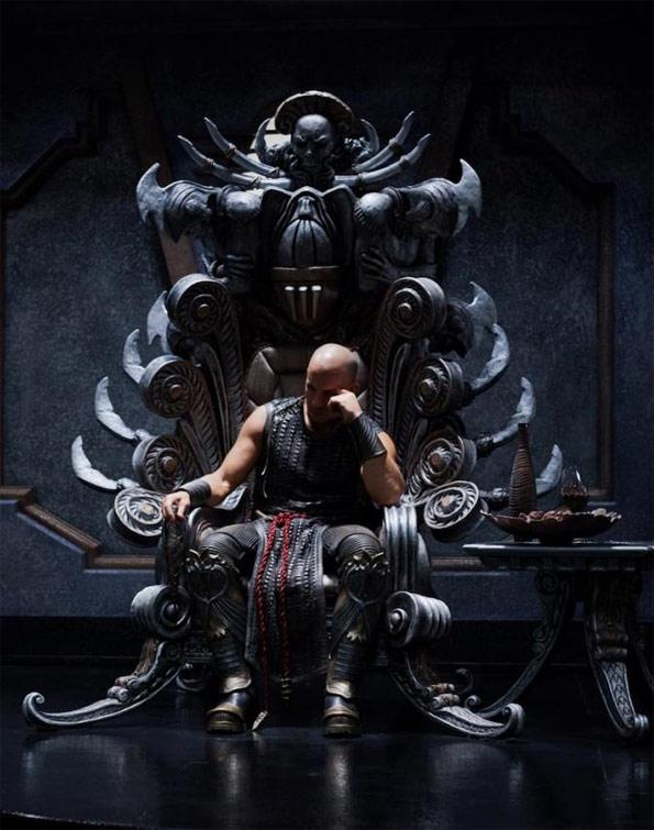 Riddick en su trono