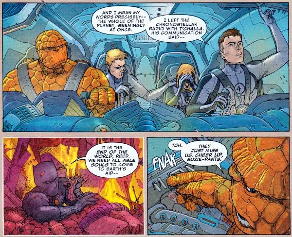 Detalle de página de Fantastic Four #5AU