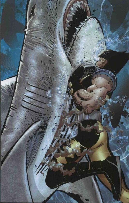 Lobezno contra el tiburón...