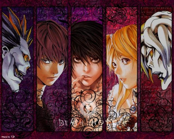 """Protagonistas de """"Death Note"""""""
