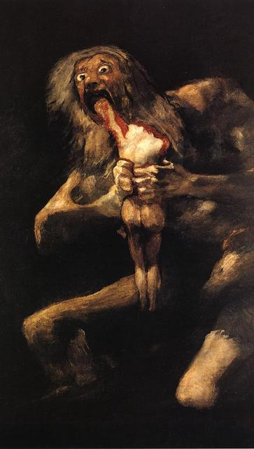 Goya_ Pinturas Negras_ Saturno devorando un hijo 1819-23 Pra