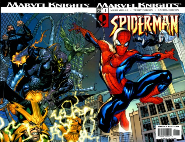 """Marvel Knights: Spider-Man"" Guion de Mark Millar y dibujos de Terry Dodson y Frank Cho"