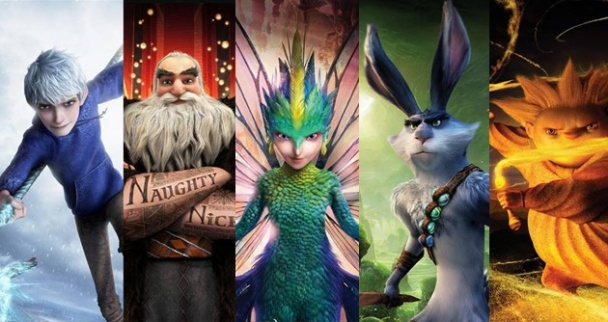 el origen de los guardianes jack santa hada sandy bunny