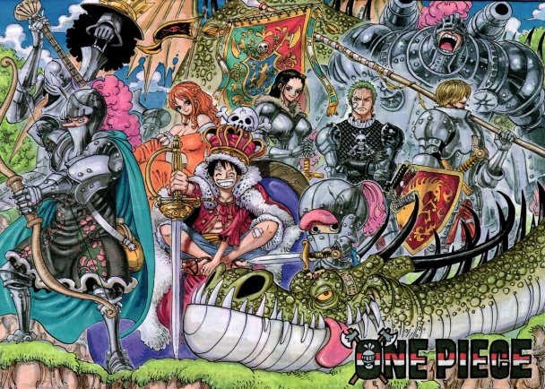 one-piece-color-spread-caballeros-edad-media