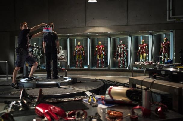 Iron Man 3 hall de las armaduras