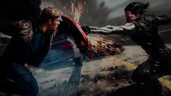"""Artwork de """"Capitán América: El Soldado de Invierno"""""""