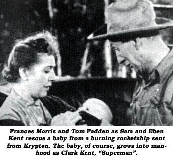 Frances Morris y Tom Fadden como Sara y Eben Kent en la serie Adventures of Superman