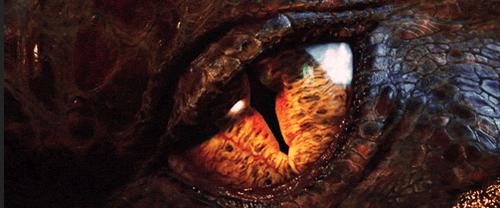 "El ojo de Smaug al final de la primera parte de ""El Hobbit"""