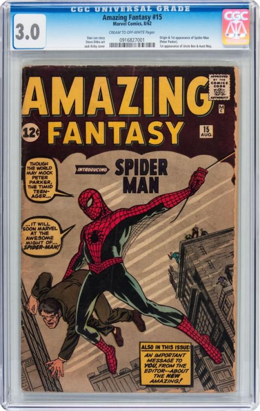La primera aparición de Spider-Man en mal estado