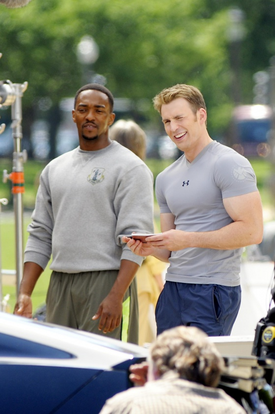Chris Evans y Anthony Mackie