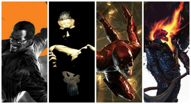 Blade, Punisher, Daredevil y Ghostrider