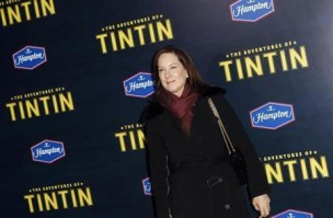 "Producer Kathleen Kennedy arrives for the premiere of the movie ""The Adventures of Tintin"" in New York"