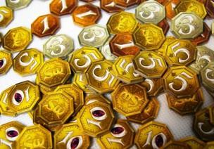 Las monedas del juego.