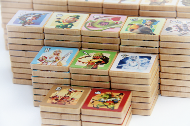 Las fichas de madera del próximo SmallWorld Designer Edition