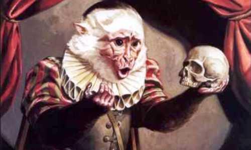 Ampersand con la calavera de Yorick (referencia a Hamlet)
