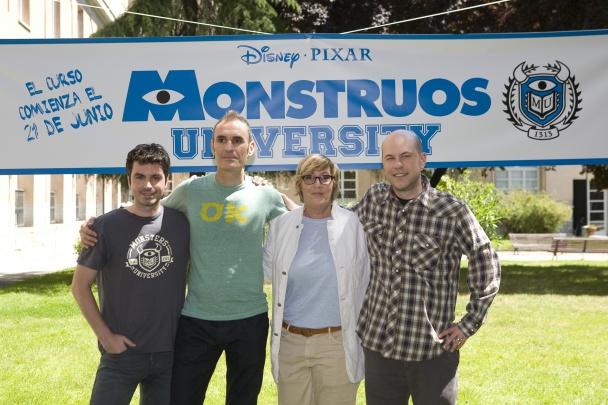 José Ramos, Juan Carlos Navarro, Kori Rae y Dan Scanlon