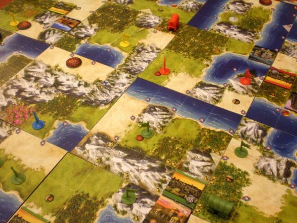 Ciudades, colonos y ejércitos en el mapa