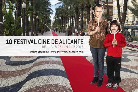 Festival de Cine de Alicante. Paseo de la Explanada de fondo