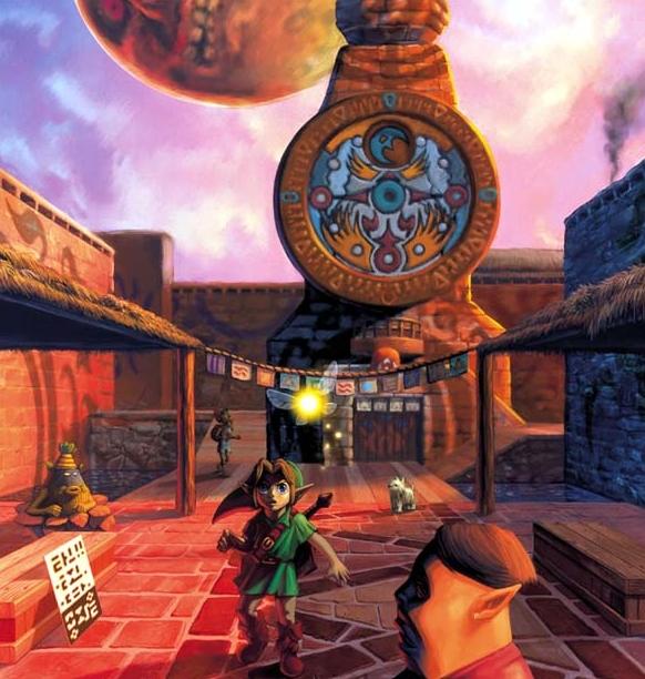 majora's-mask-artwork-link-clocktown-ciudad-reloj