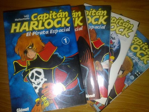 Los 5 tomos del manga del capitán Harlock