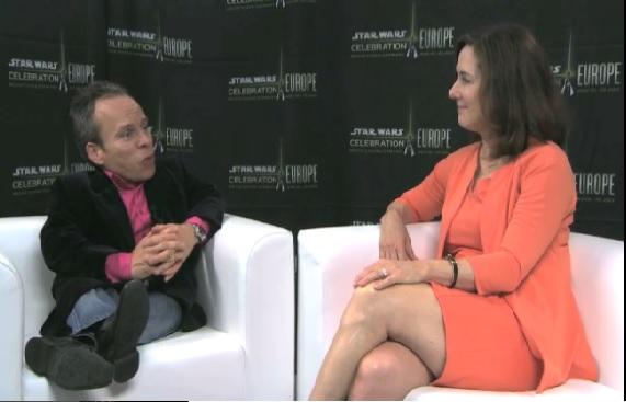 La productora Kathleen Kennedy en su entrevista con Warwick Davis