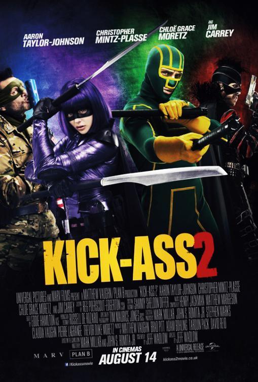 Kick Ass 2 con un par Poster