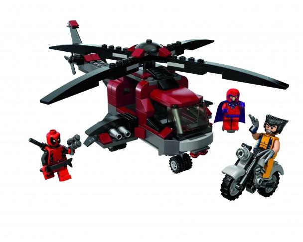 LEGO 6866 El Ataque Sorpresa de Lobezno en su Chopper