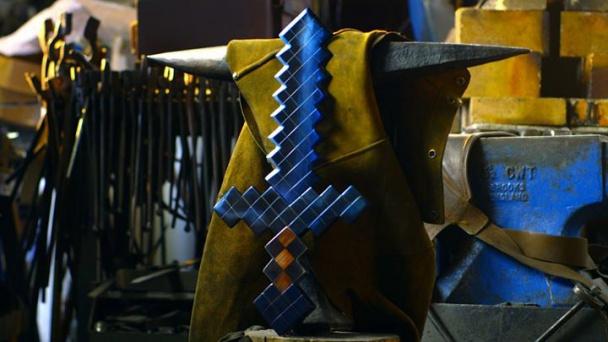 La espada de diamante de Minecraft
