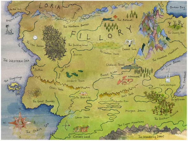 Mapa de Fillory, de Roland Chambers