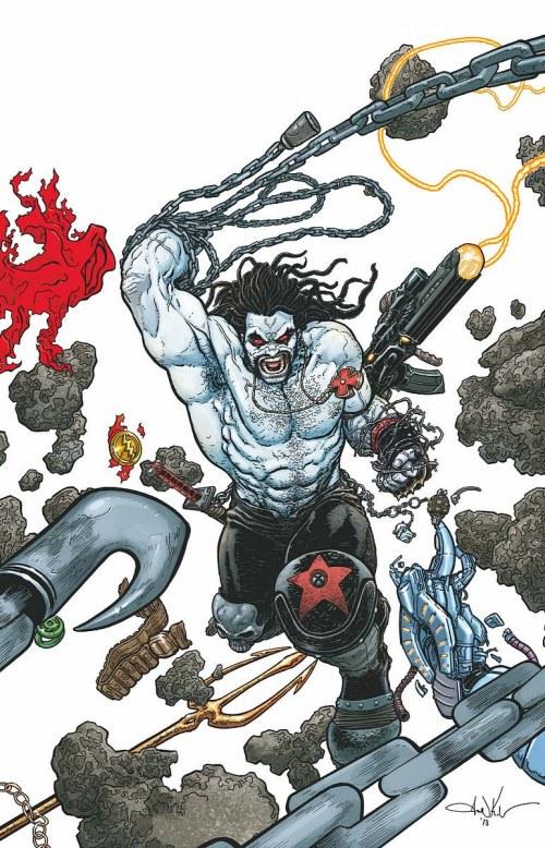 Portada de Justice League #23.2: Lobo (Aaron Kunder)
